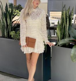 Love Shack Fancy Harmon Dress Cream