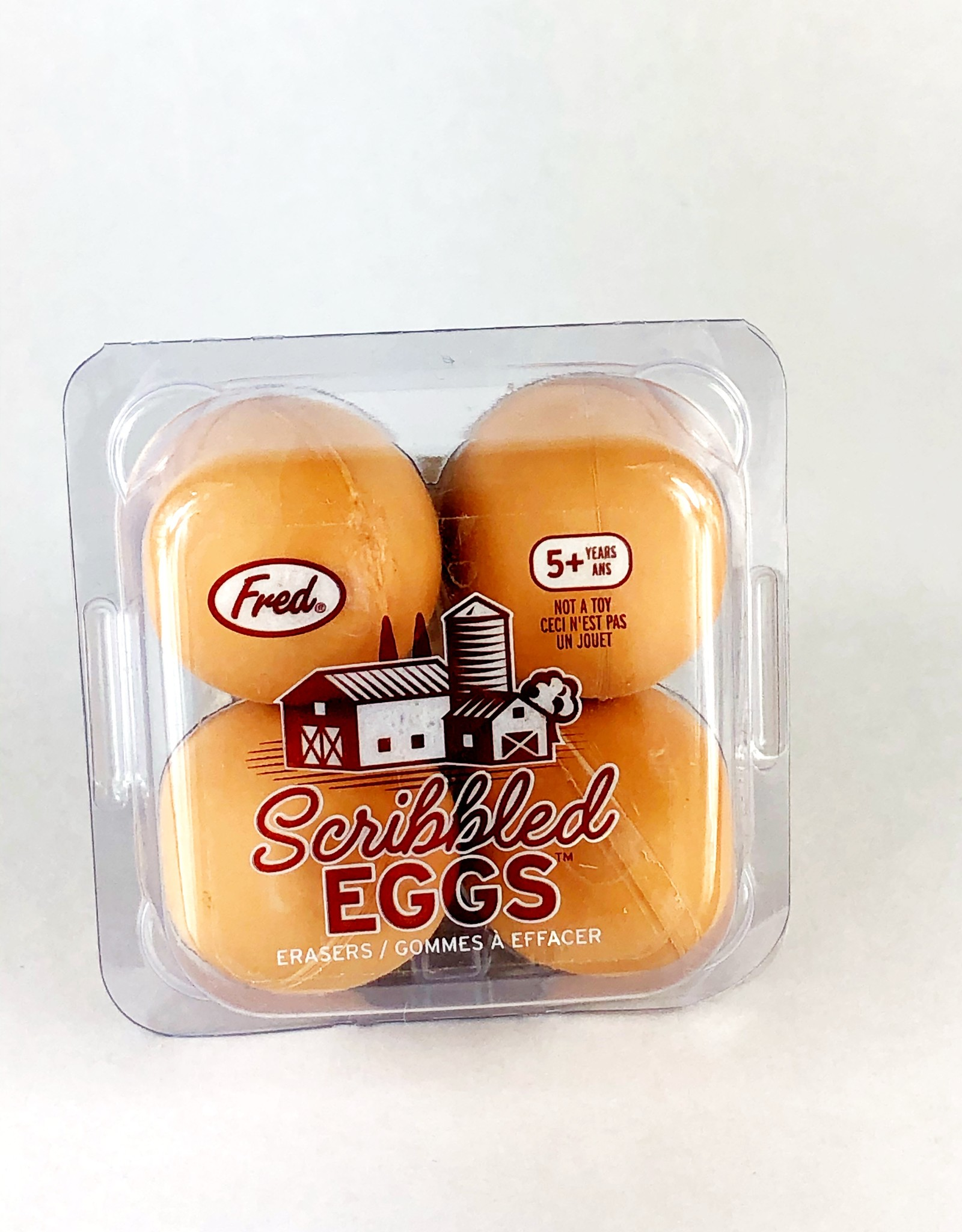 Fred & Friends SCRIBBLED EGGS - EGG ERASERS-4