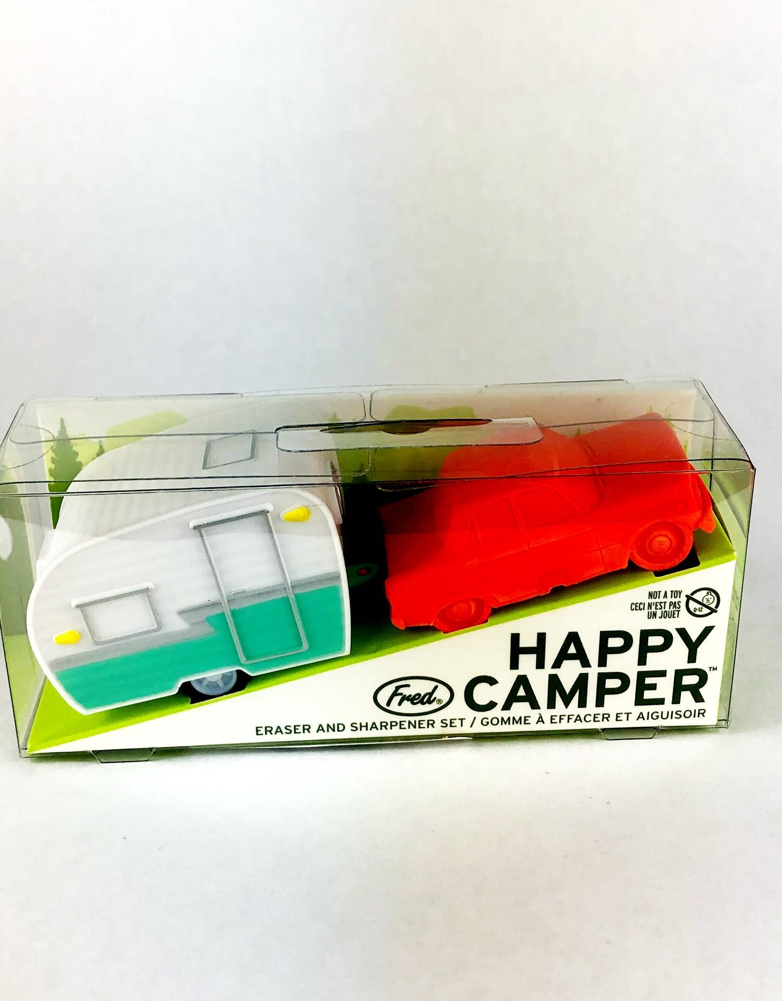 Fred & Friends HAPPY CAMPER - ERASER + SHARPENER