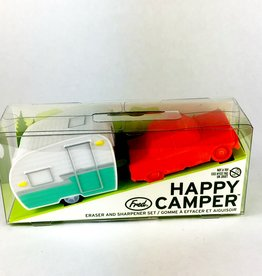 Fred & Friends HAPPY CAMPER - ERASER + SHARPENER