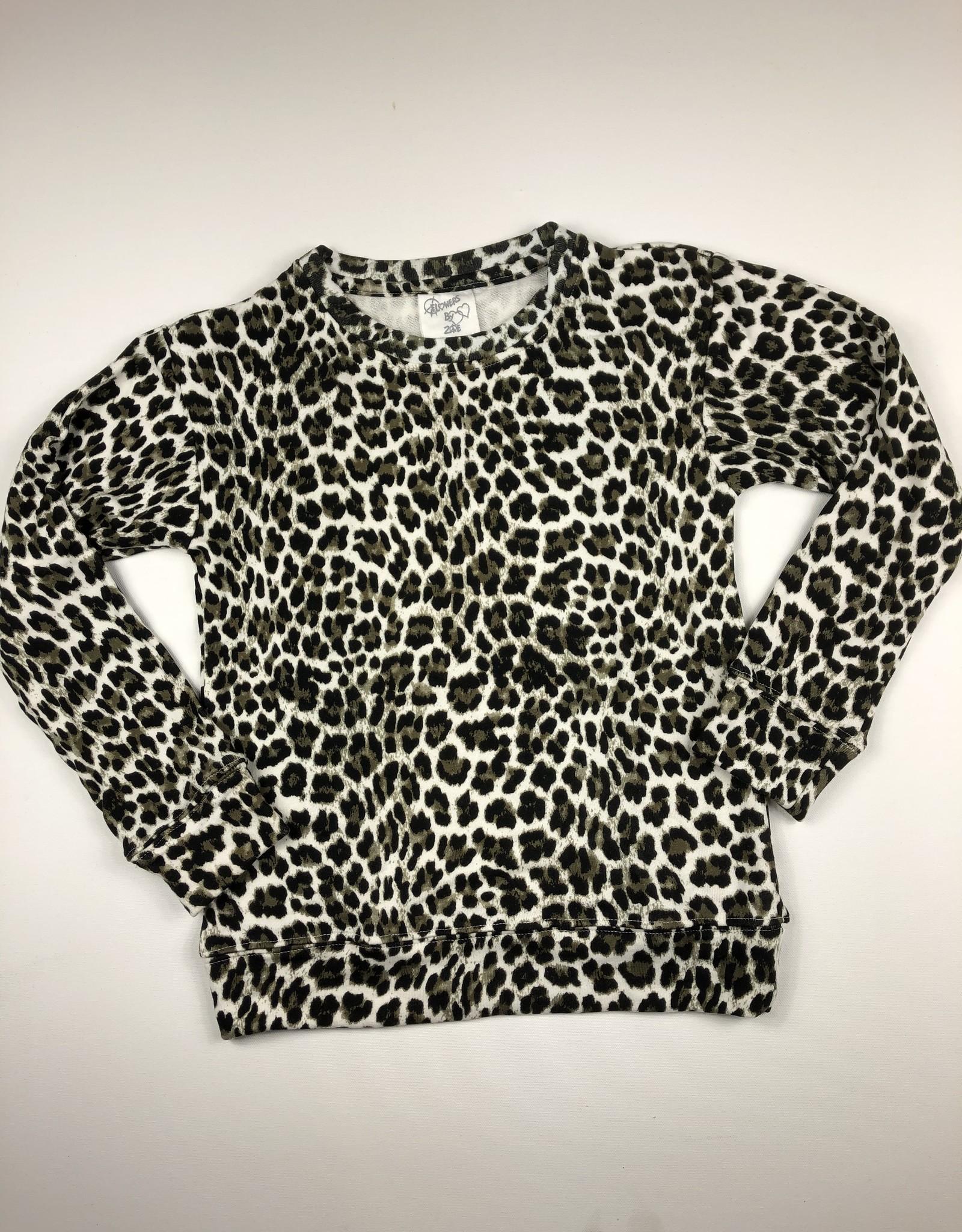 FLOWERS BY ZOE Leopard Sweatshirt