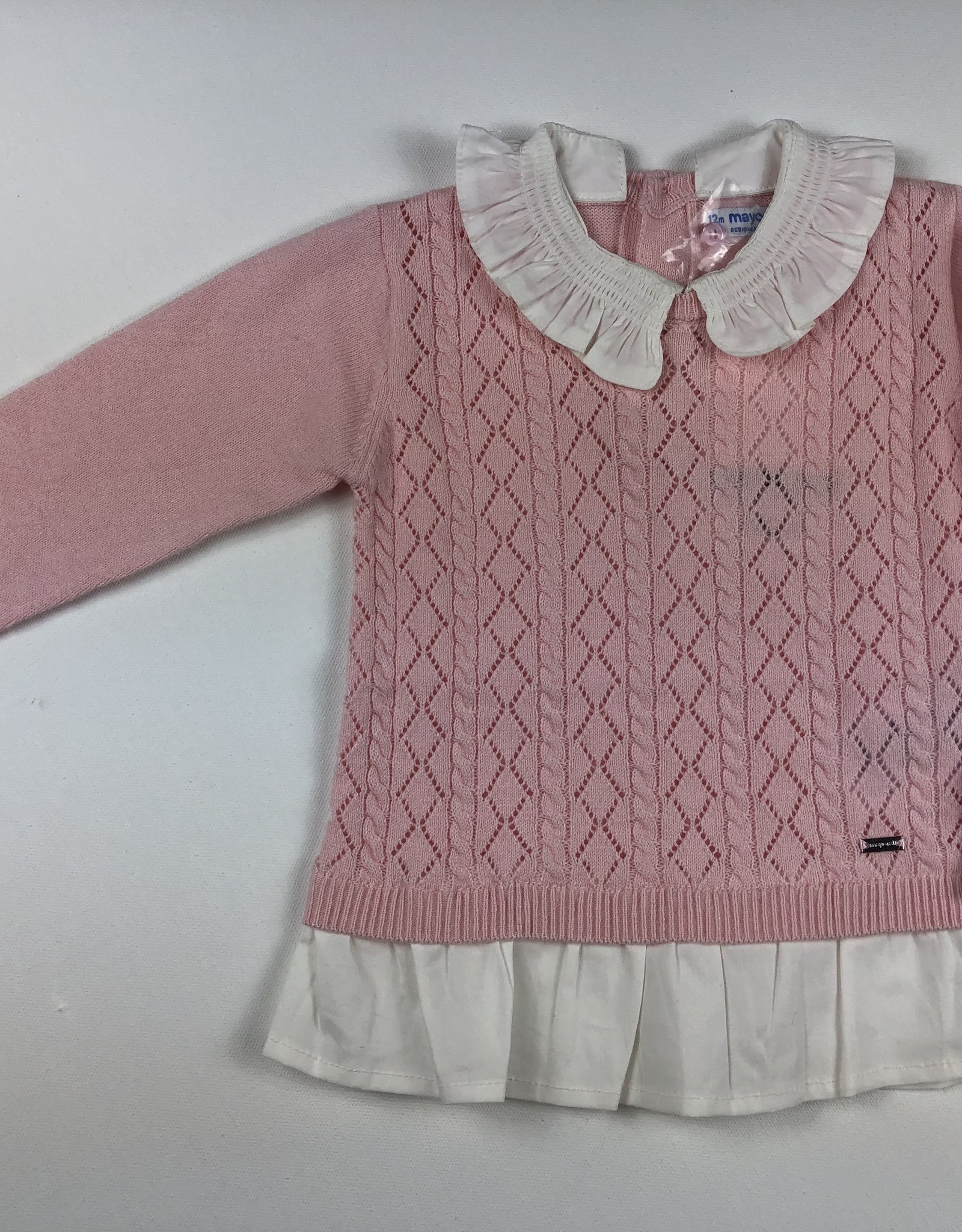 Mayoral Collared Sweater Pink