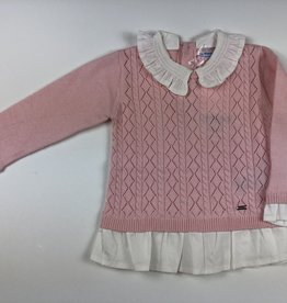 Mayoral Mayoral Pink Collared Sweater