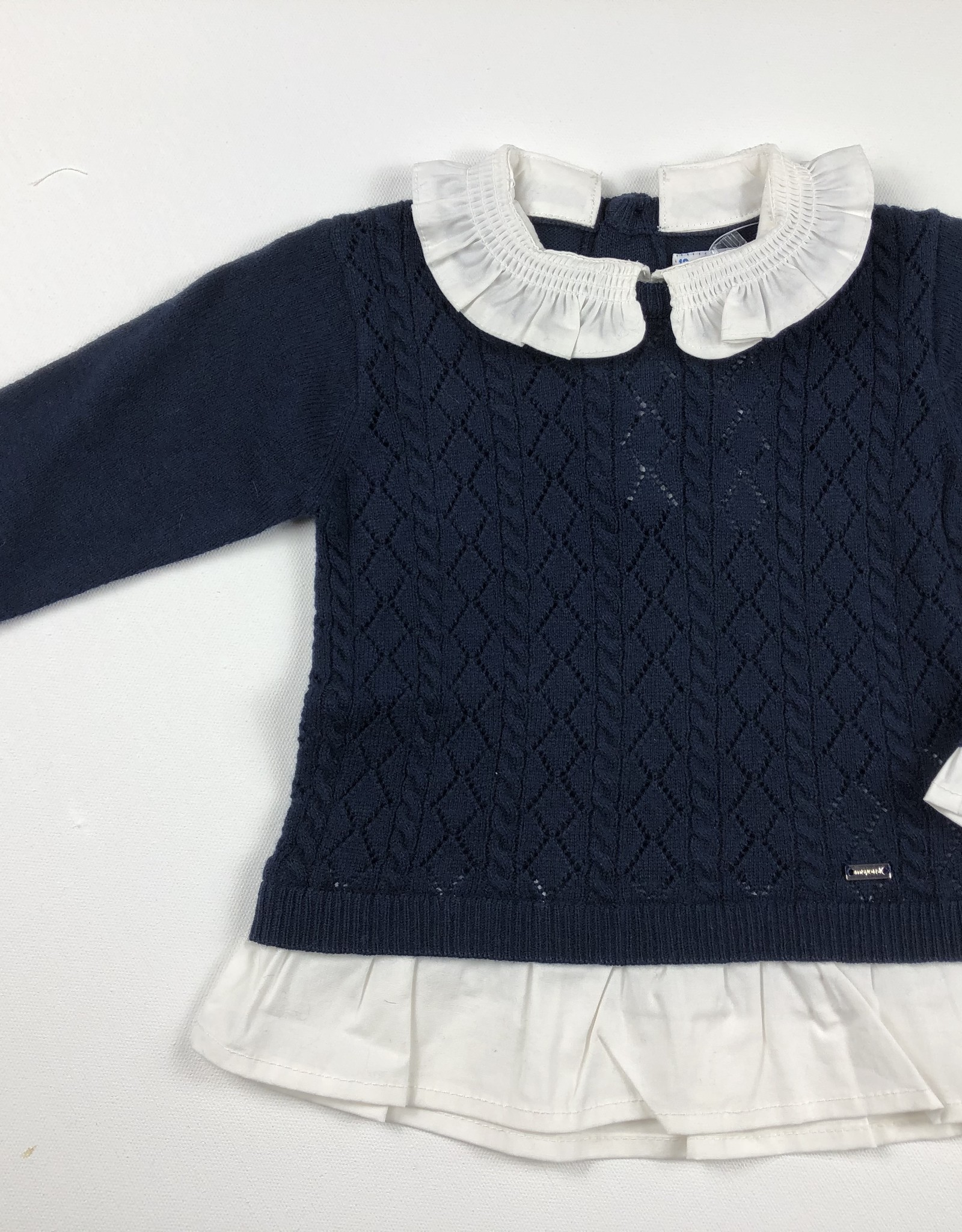 Mayoral Collared Sweater Navy