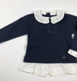 Mayoral Mayoral Collared Sweater Navy