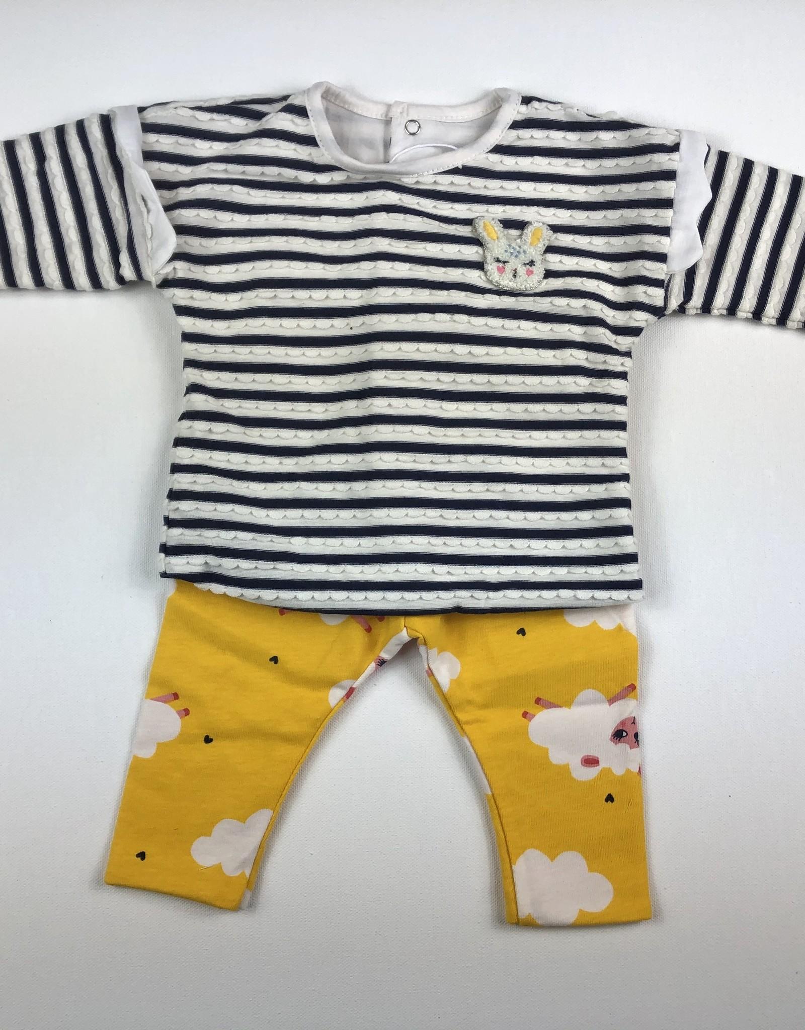 CATIMINI Stripe Shirt/Pant Set