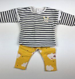 CATIMINI Catimini Stripe Shirt/Pant Set