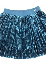 Mayoral Blue Velvet Skirt