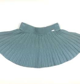 Mayoral Mayoral Muted Aqua Pleated Knit Skirt