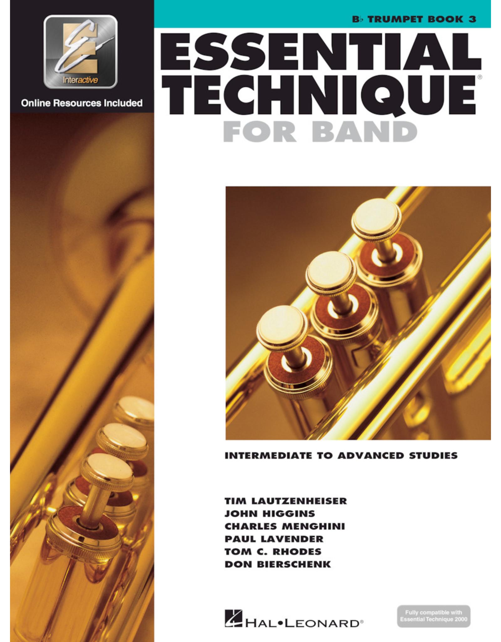 Hal Leonard Essential Technique For Band Book 3