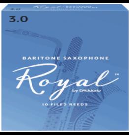 D'Addario Rico Royal by D'Addario Baritone Sax Reeds 10-Pack