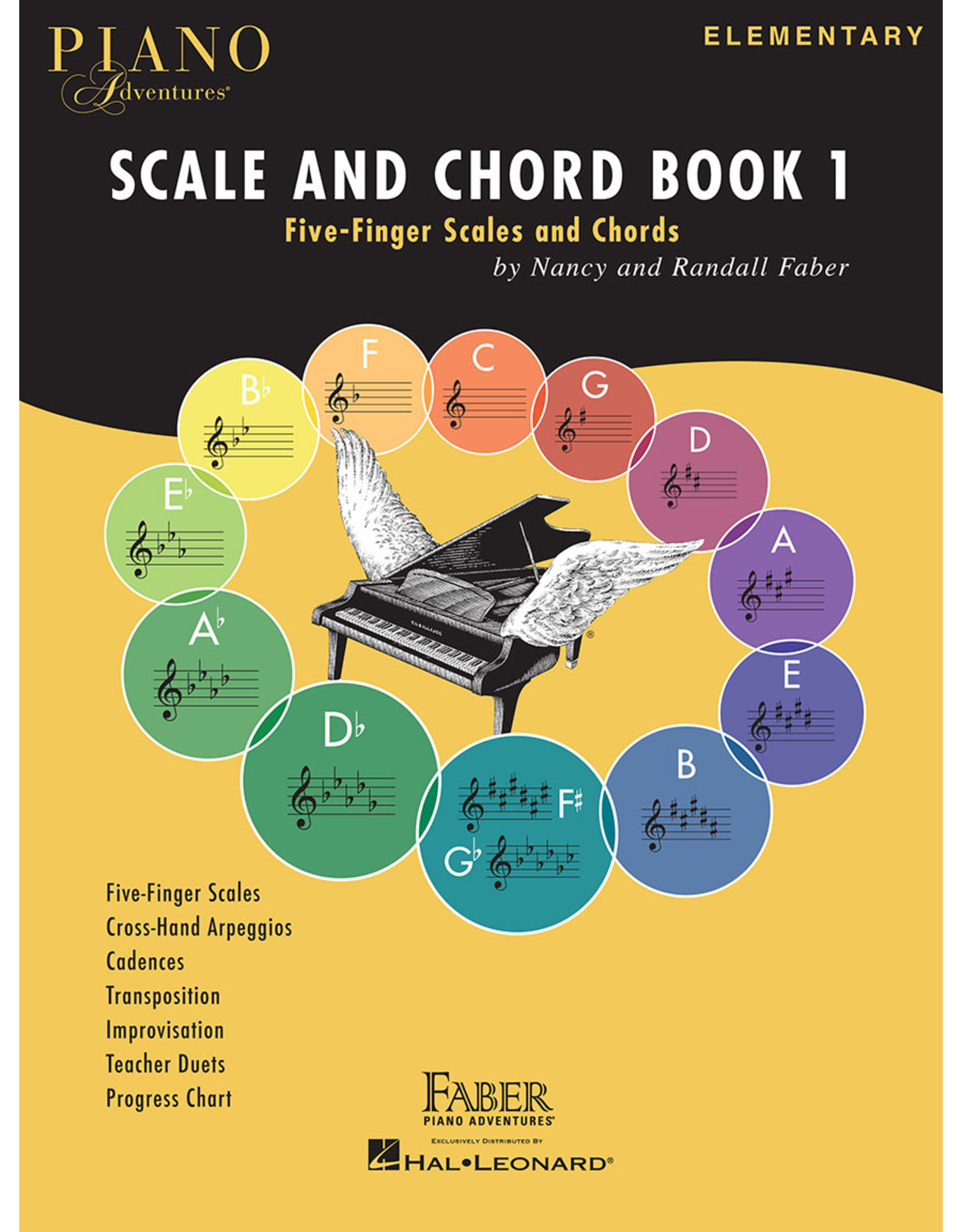 Hal Leonard Faber Piano Adventures Scale and Chord Book 1