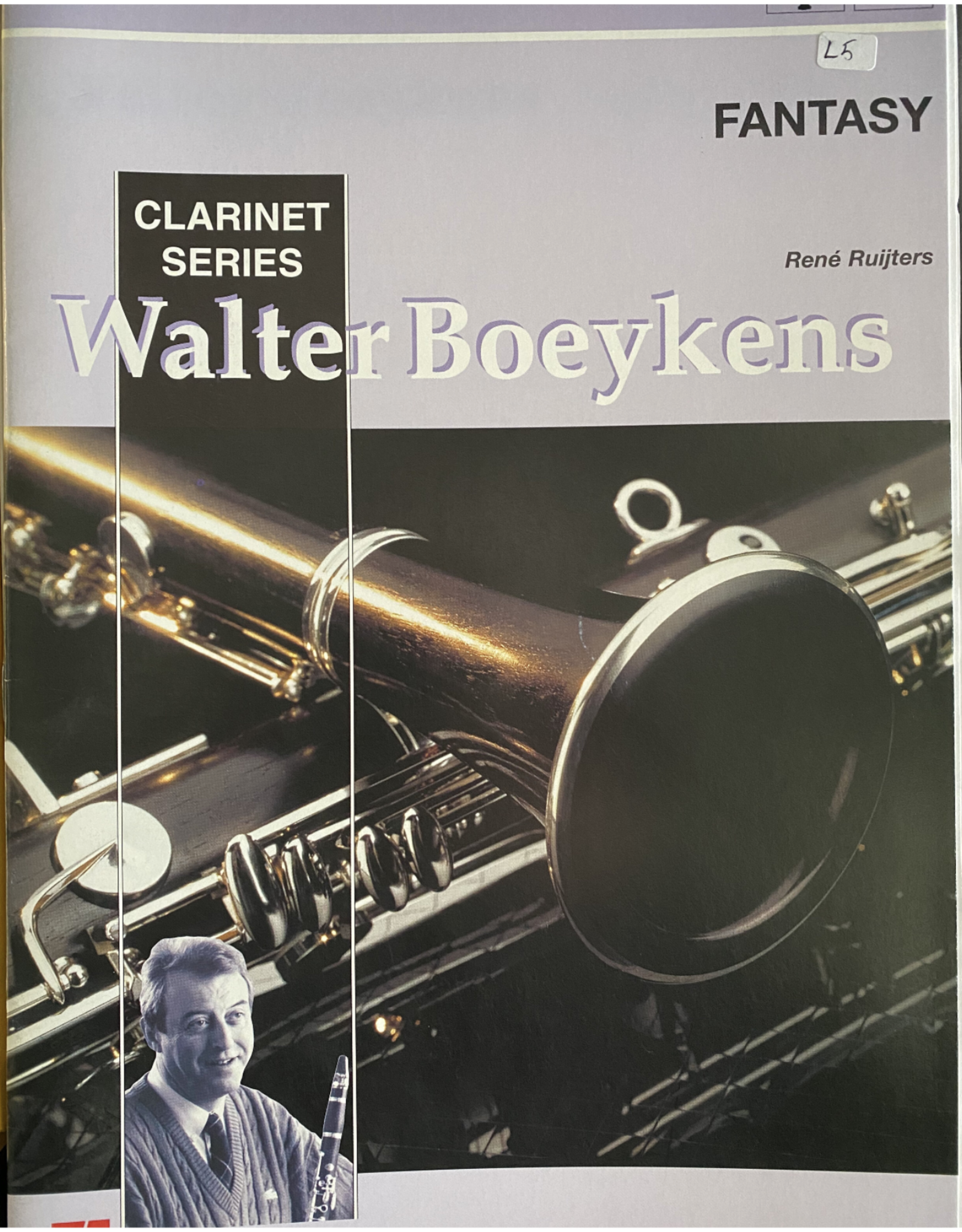 Hal Leonard Fantasy Walter Boeykens Clarinet Series by Rene Ruijters De Haske Play-Along Book