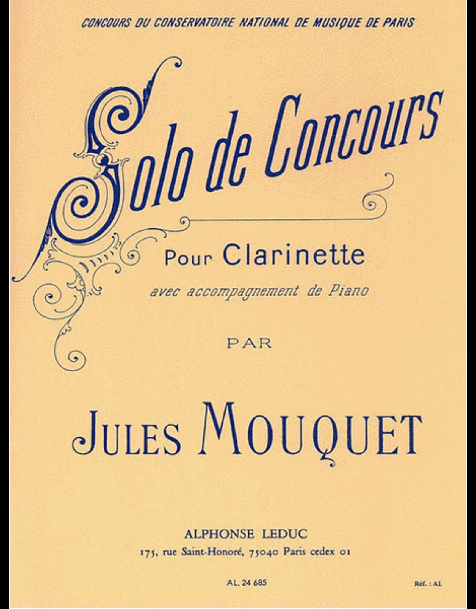Alphonse Leduc Mouquet Solo de Concours for Clarinet and Piano