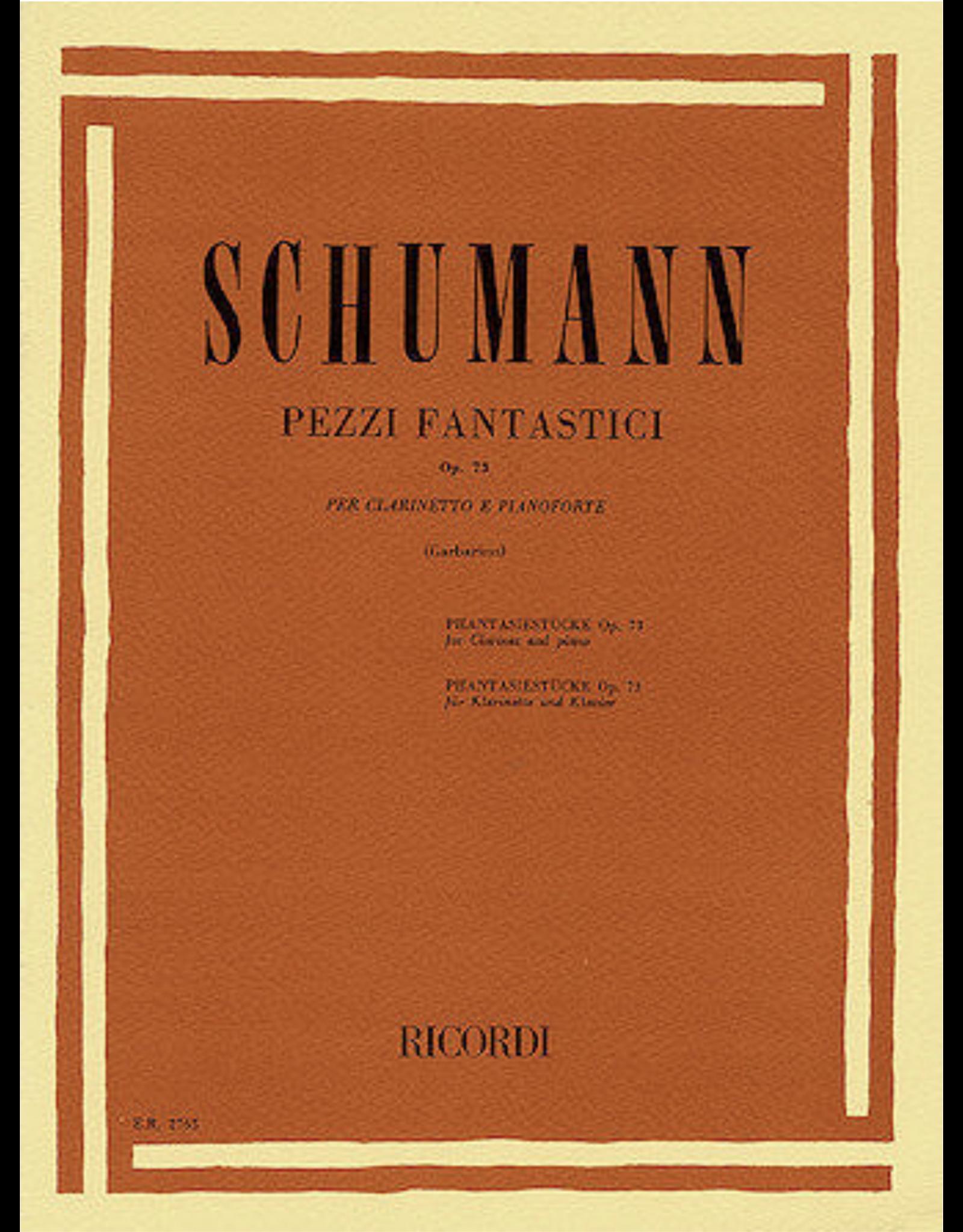 Ricordi Schumann Pezzi Fantastici/ Phantasiestucke Op. 73 For Clarinet and Piano
