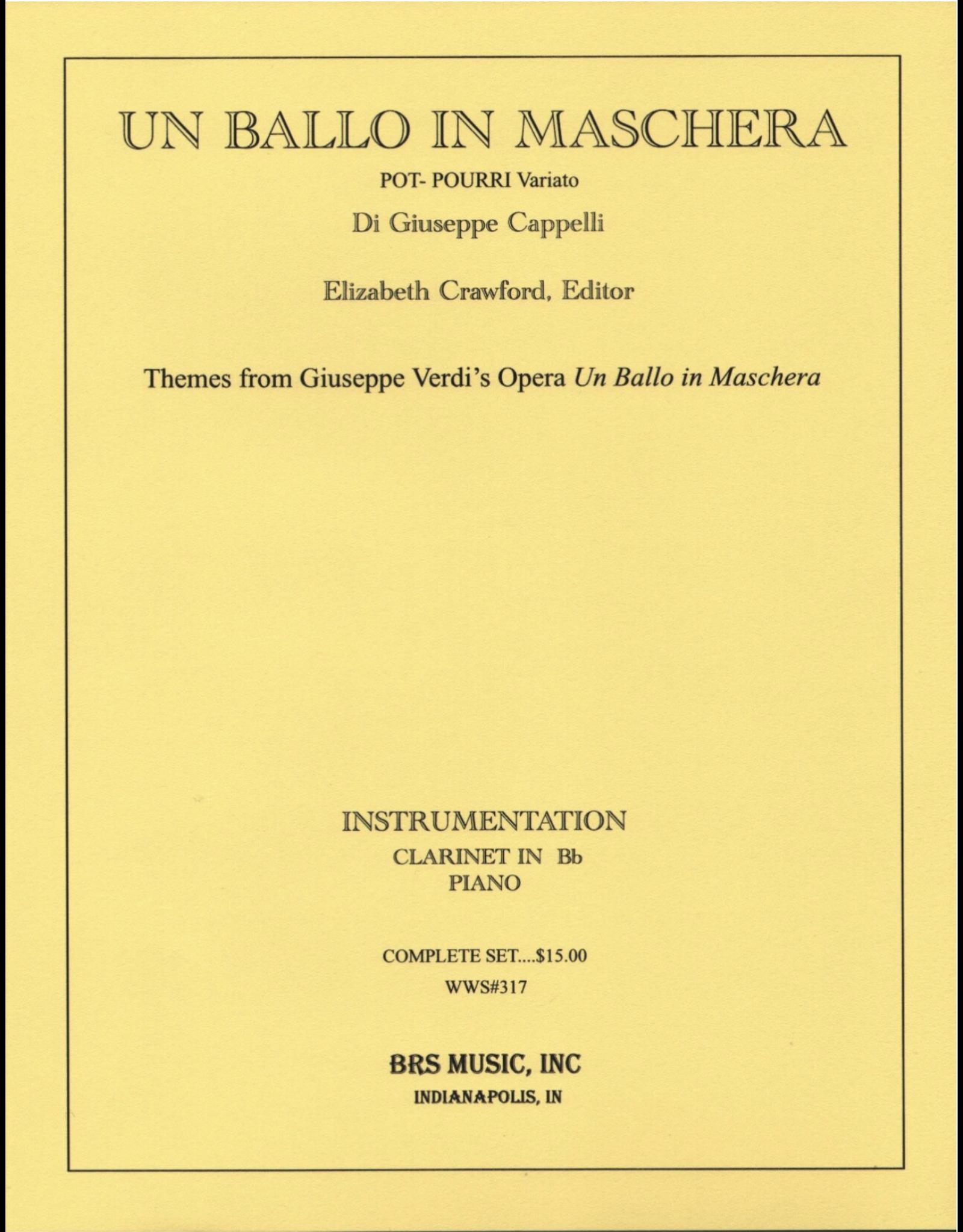 Generic Cappelli - Un Ballo in Maschera For Clarinet and Piano
