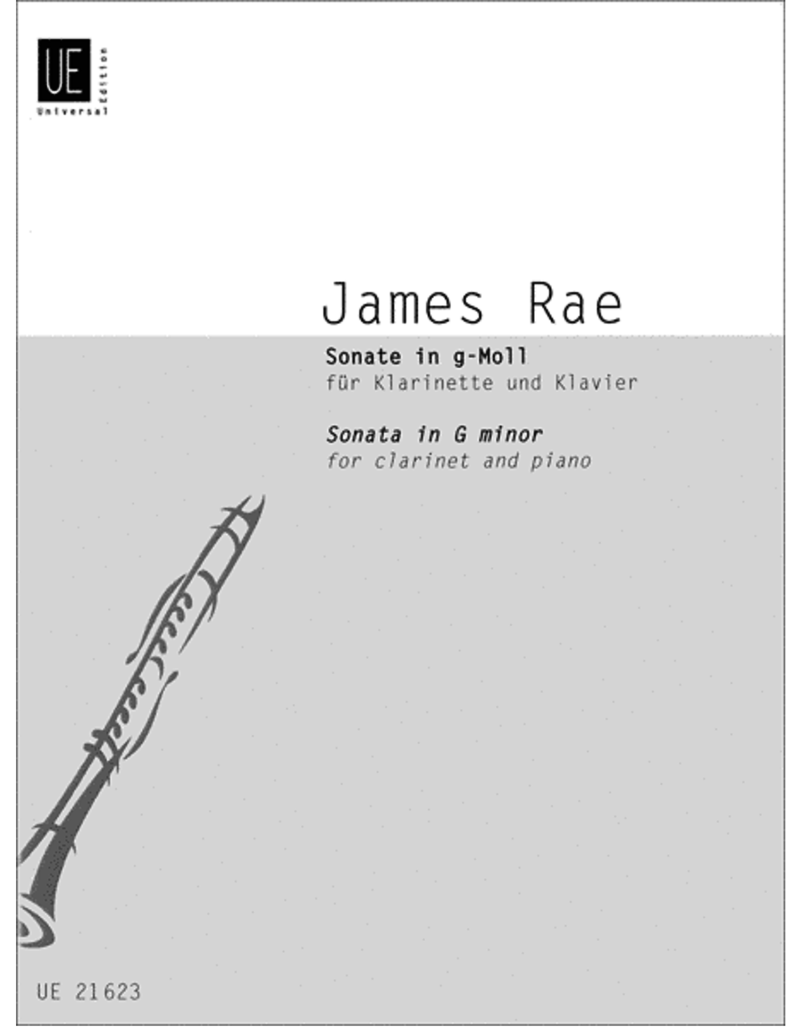 UNIVERSAL EDITION Rae - Sonata in G minor for clarinet and piano