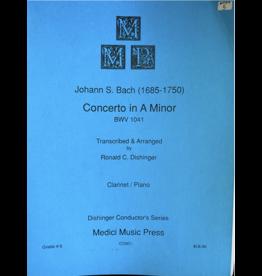 Medici Music Press Bach - Concerto in A Minor Clarinet and Piano CO901