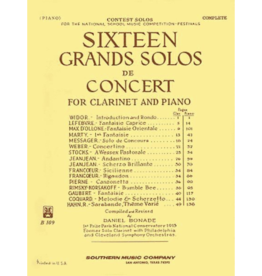 Hal Leonard 16 Grand Solos de Concert Clarinet with Piano ed. Daniel Bonade Southern Music