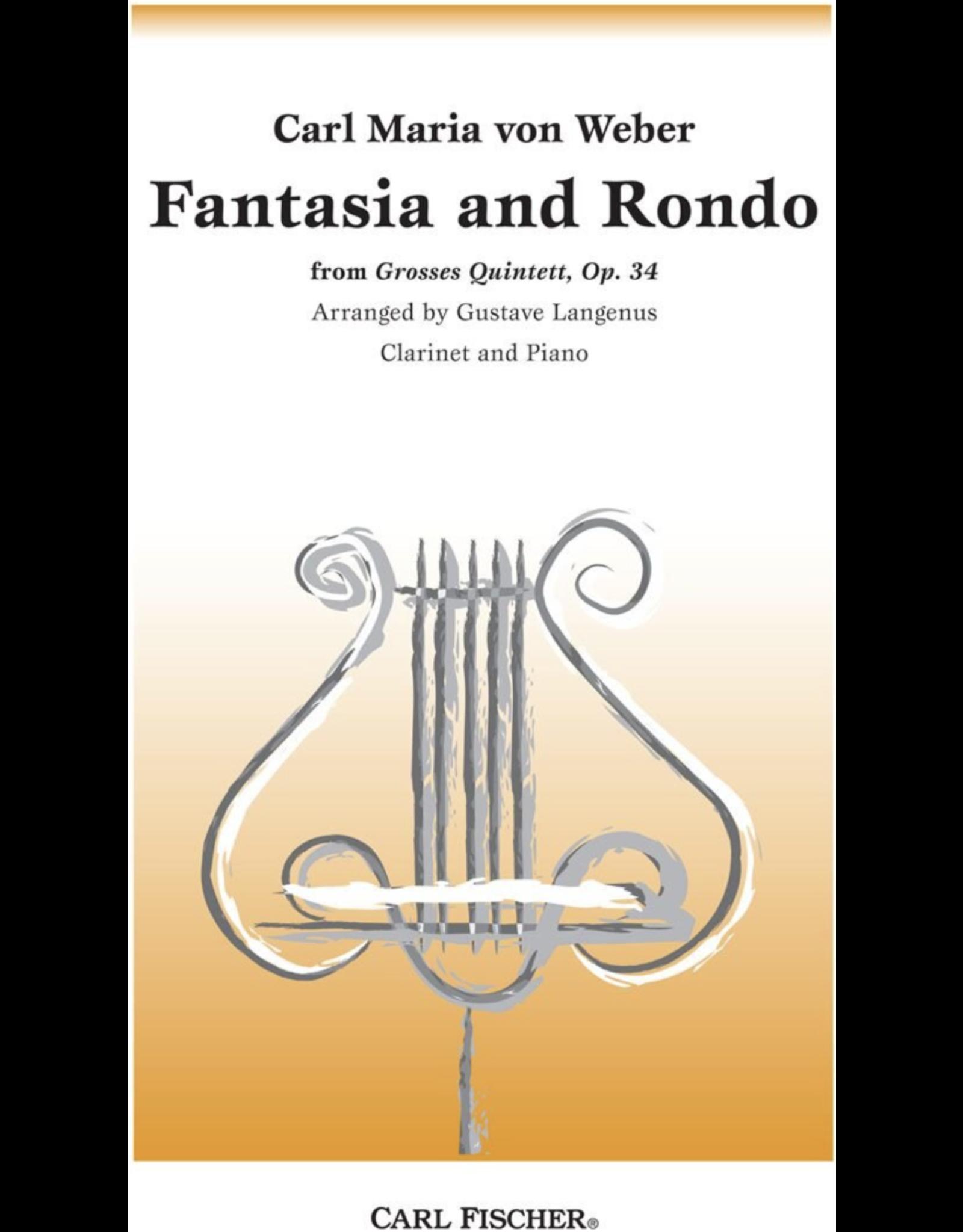Carl Fischer LLC Weber Fantasia and Rondo op. 34 Clarinet Carl Fischer