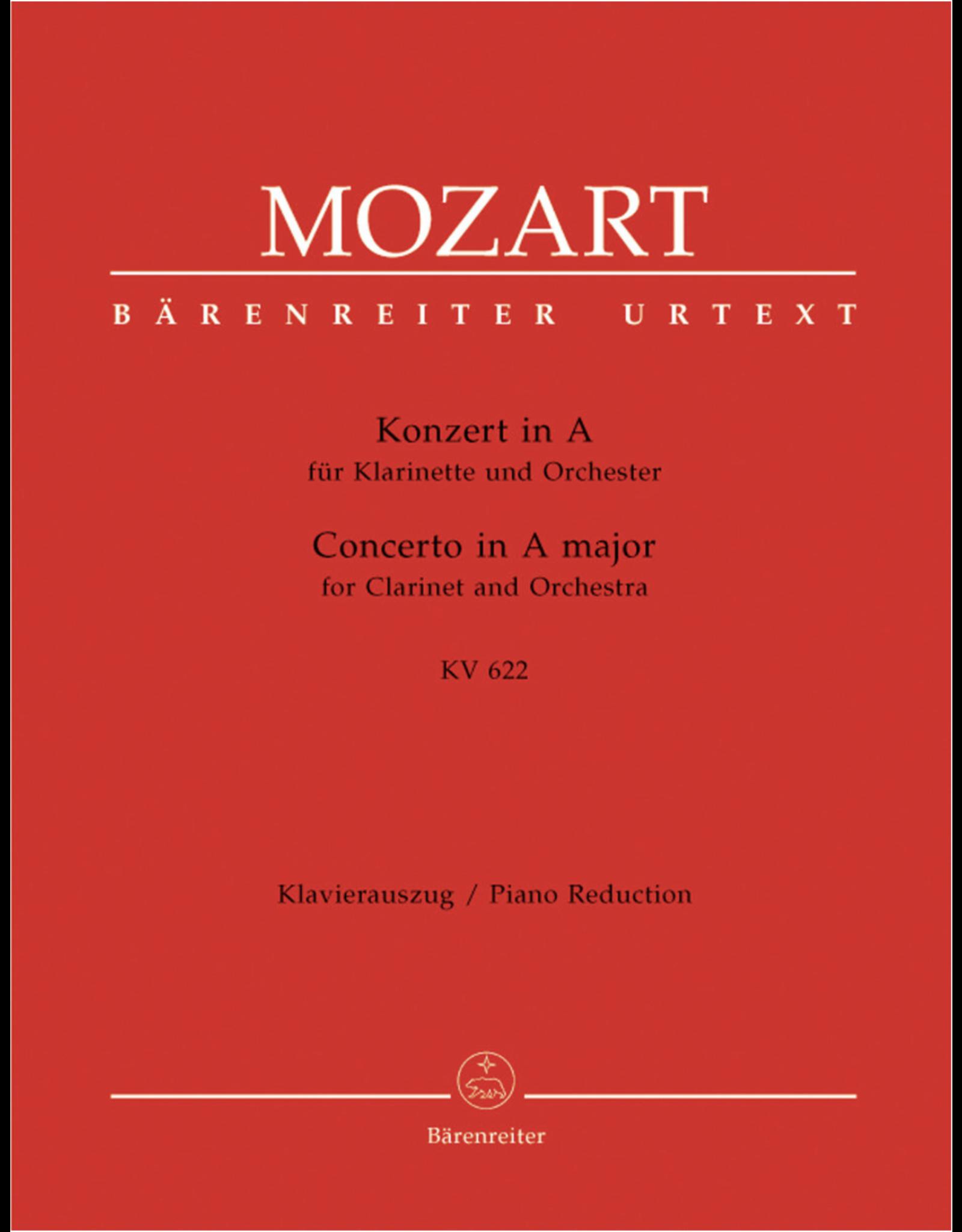 Barenreiter Mozart Clarinet Concerto in A KV 622 Barenreiter