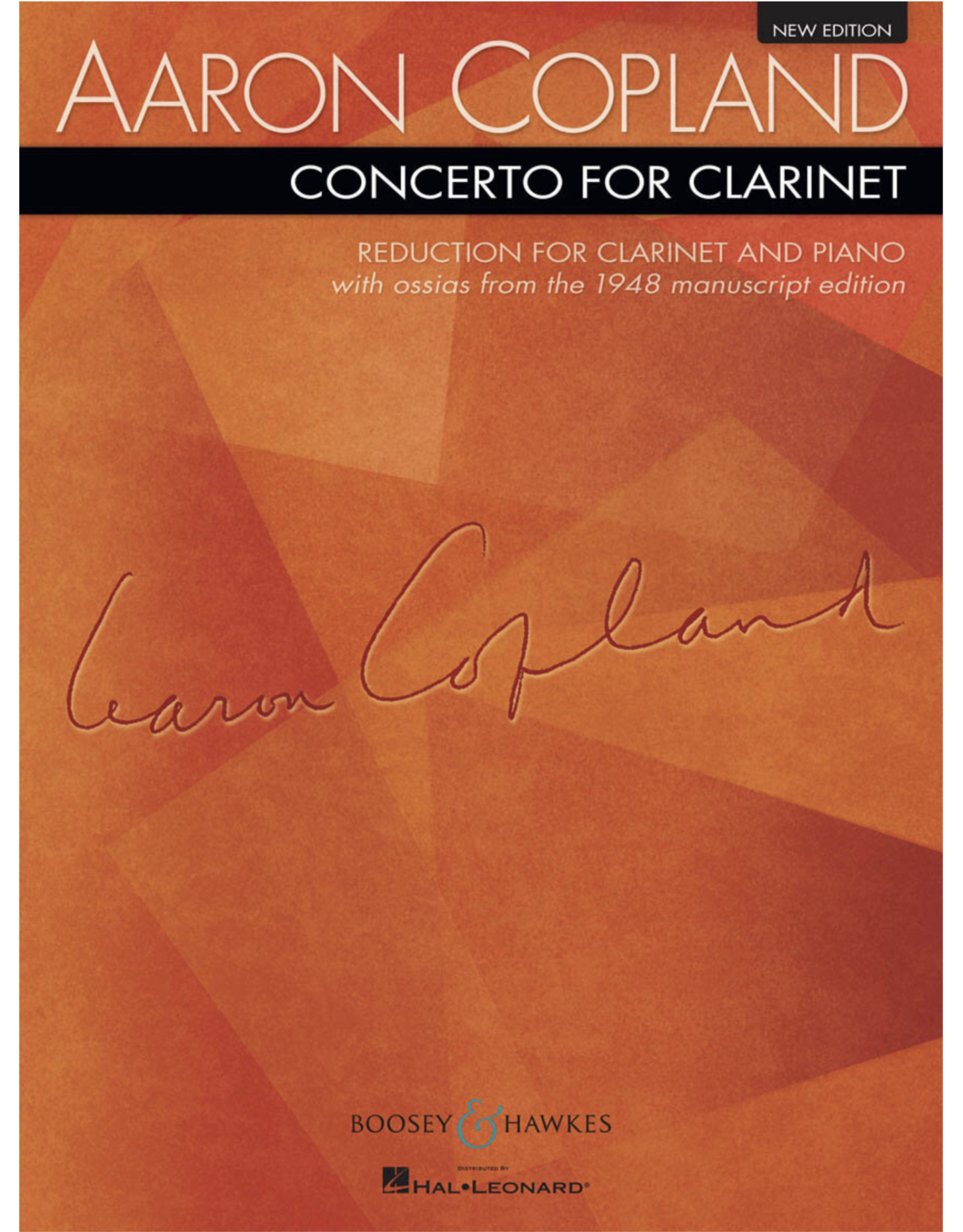 Boosey & Hawkes Copland Concerto for Clarinet and Piano B&H
