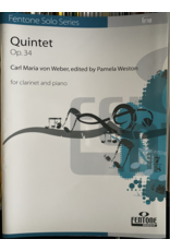 Hal Leonard Weber Quintet Op. 34 For Clarinet and Piano