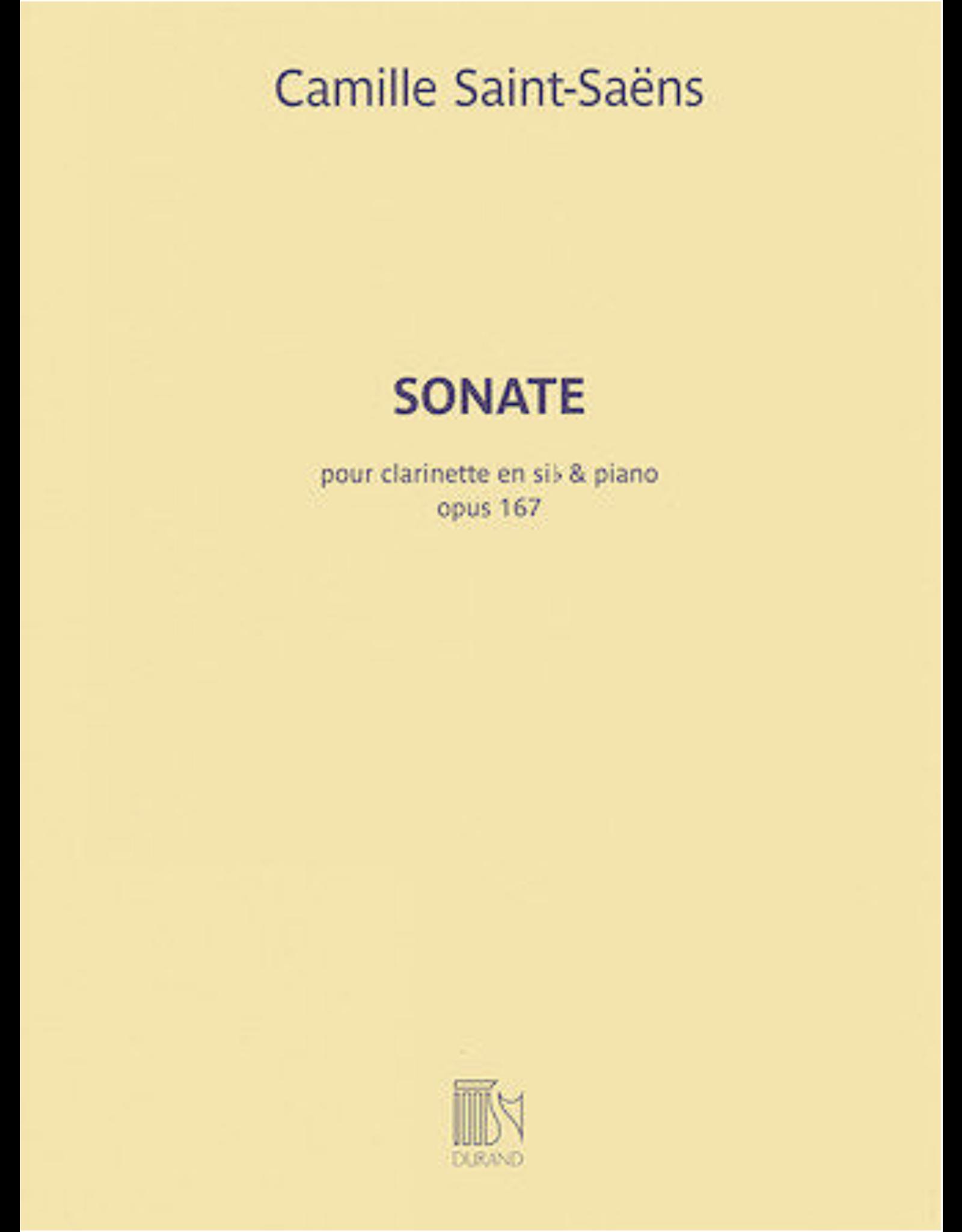 Hal Leonard Saint-Saens - Sonata, Op. 167 Clarinet in E-flat and Piano Editions Durand
