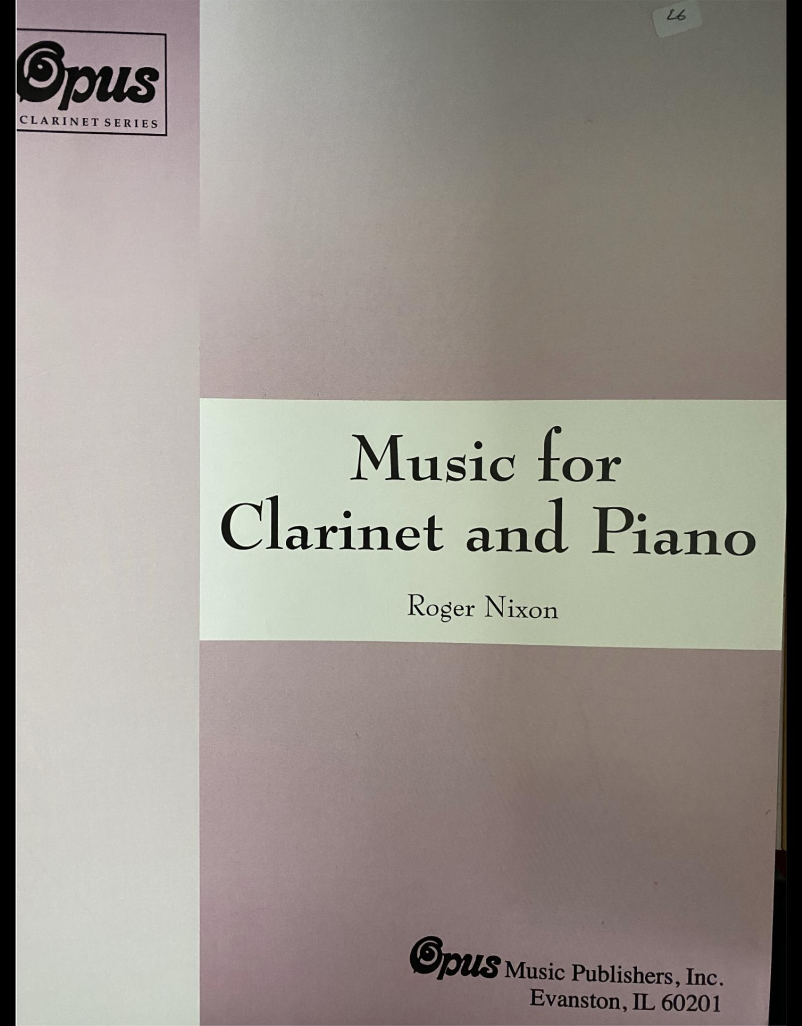 Generic Nixon - Music for Clarinet and Piano