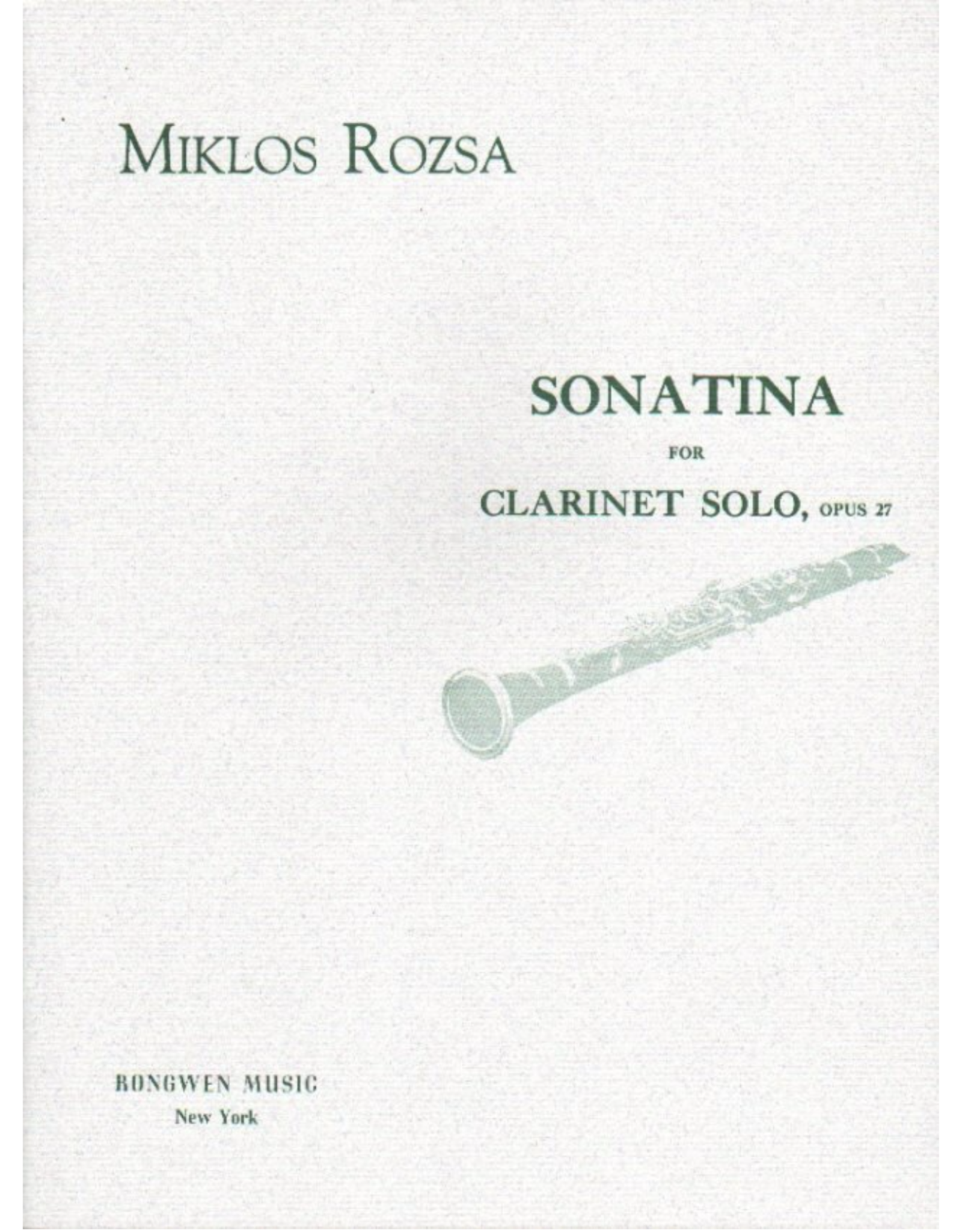 Generic Rozsa - Sonatina for Clarinet Op. 27