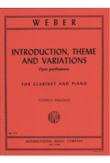 International Weber - Introduction Theme and Variations for Clarinet and Piano IMC No. 1742