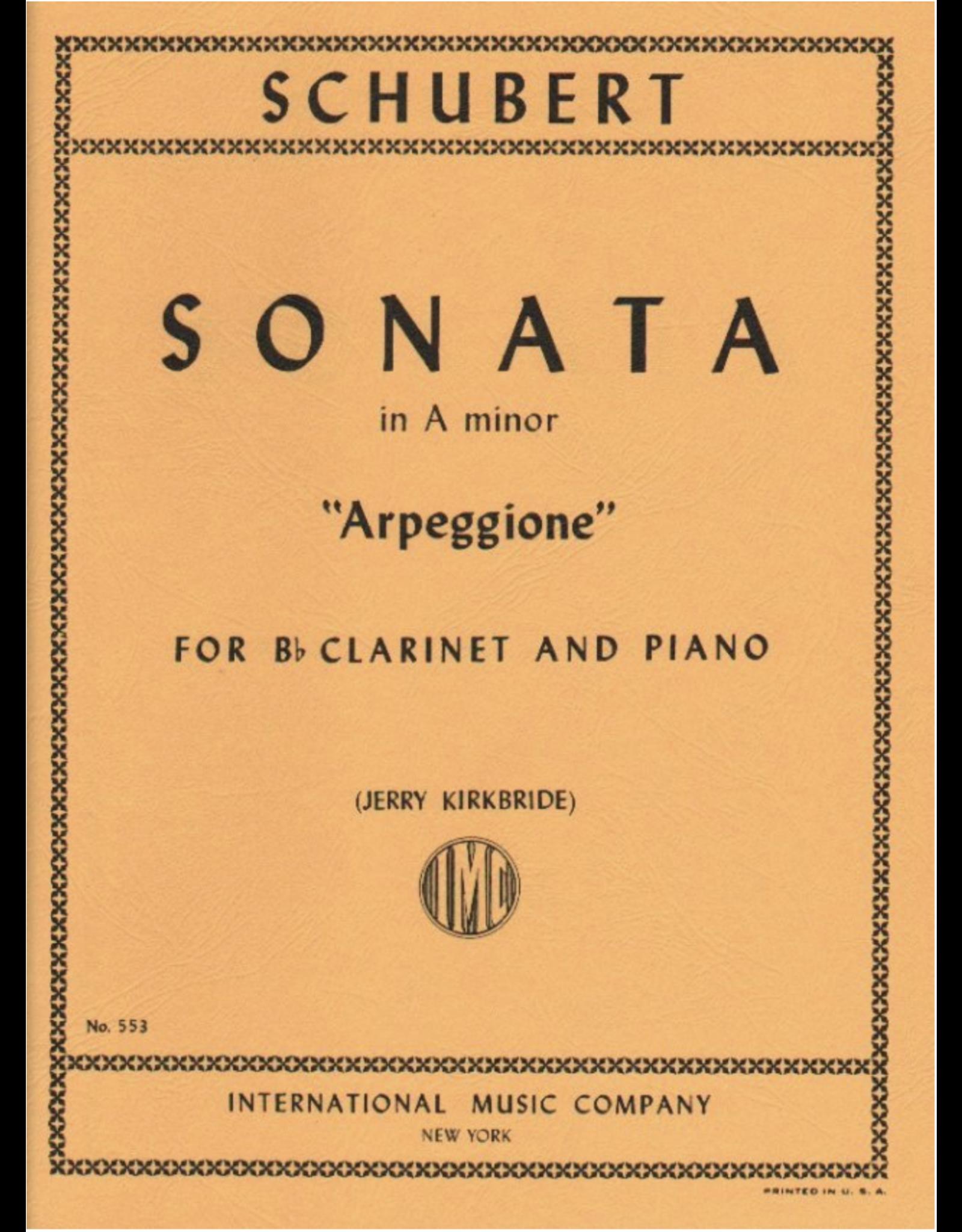 """International Schubert - Sonata in A Minor """"Arpeggione"""" For Clarinet and Piano No. 553 IMC"""