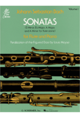 Hal Leonard Bach - Sonatas for Flute and Piano, Vol. 1 realized by Louis Moyse Woodwind Solo