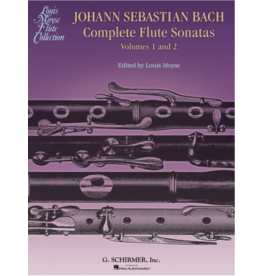 Hal Leonard Bach Complete Flute Sonatas - Volumes 1 and 2 ed. Louis Moyse Woodwind Solo