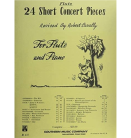 Hal Leonard 24 Short Concert Pieces Flute and Piano (2-book set) compiled and revised by Robert Cavally Robert Cavally Editions
