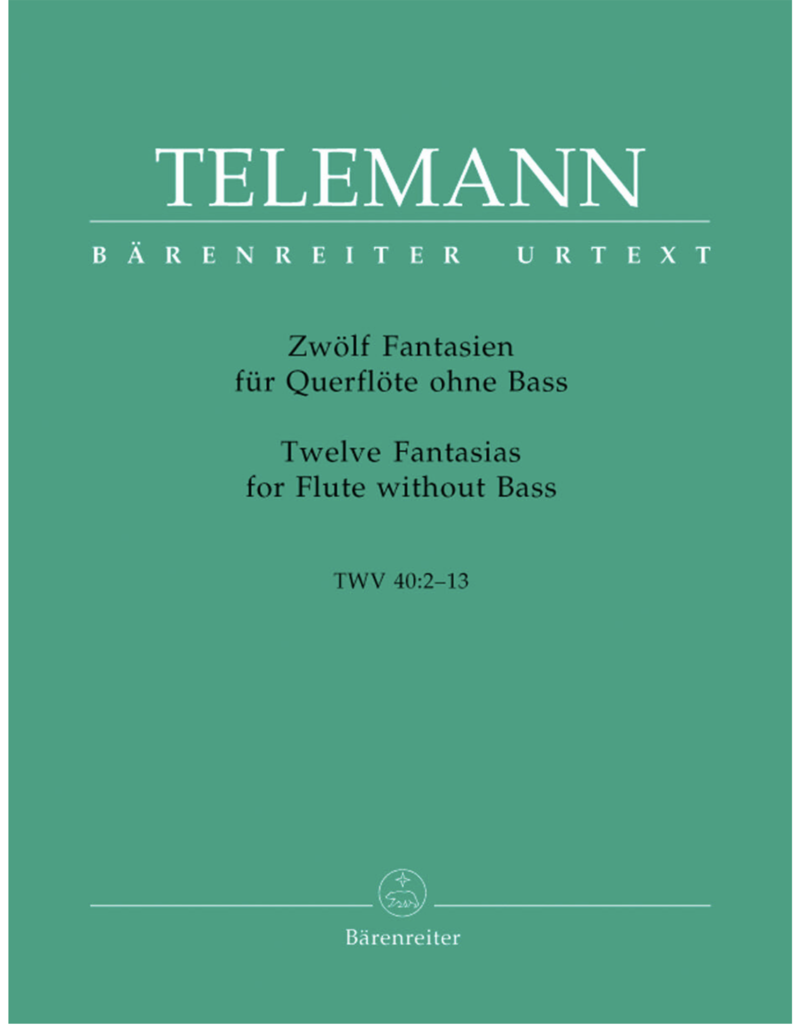 Barenreiter Twelve Fantasias for Flute without Bass TWV 40:2-13 - Telemann, Georg Philipp