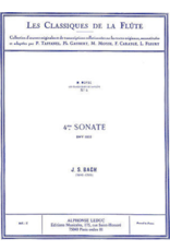 Alphonse Leduc Bach Sonata No. 4 BWV1033 C Major - Flute