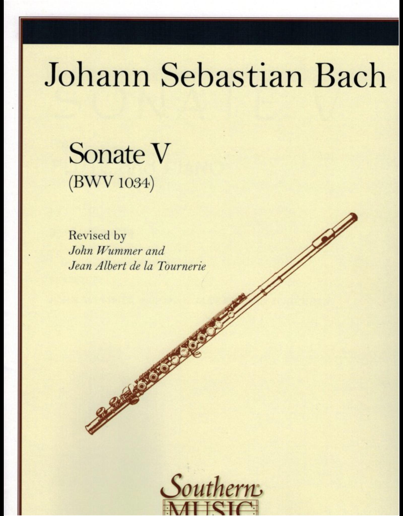 Hal Leonard Bach - Sonata No, 5 in E Minor Flute