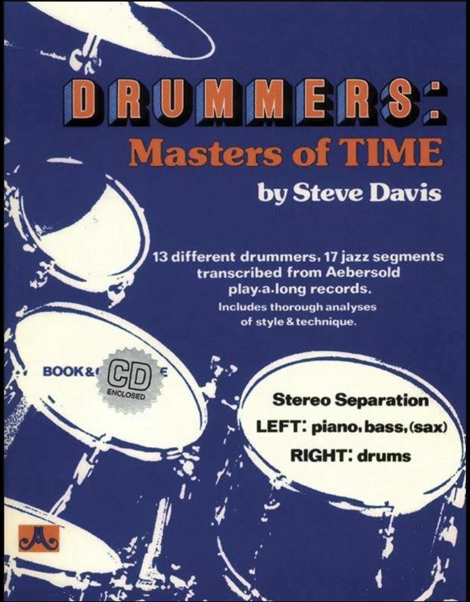 Aebersold Jazz Jazz Drummers: Masters Of Time by Steve Davis