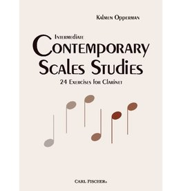 Carl Fischer LLC Opperman Intermediate Contemporary Scale Studies for Clarinet Fischer