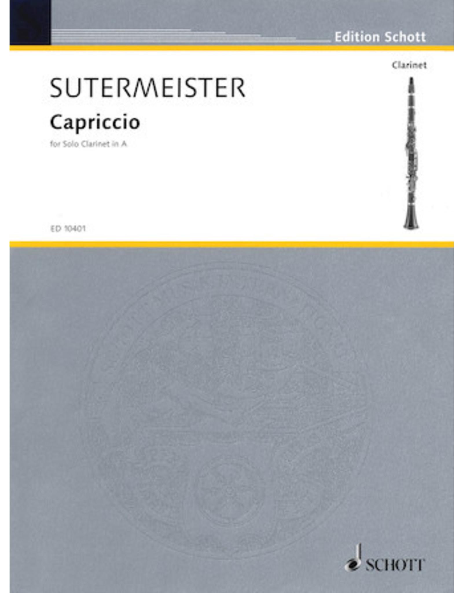 Hal Leonard Sutermeister - Capriccio for Solo Clarinet (1946) Solo Clarinet in A Schott