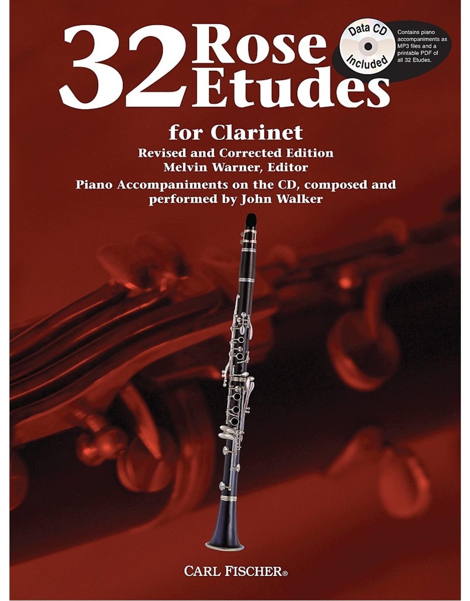 Carl Fischer LLC Rose 32 Etudes For Clarinet clarinet, clarinet and piano - John Walker, Franz Wilhelm Ferling Cyrille Rose Melvin Warner