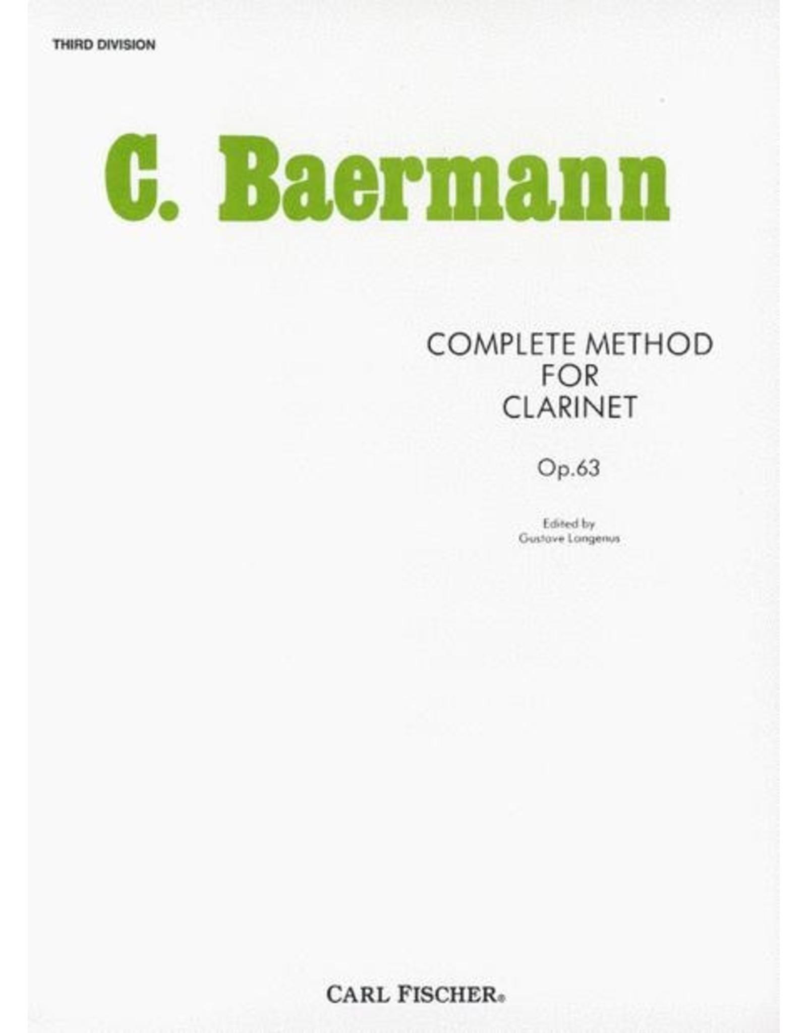 Carl Fischer LLC C. Baermann Complete Method For Clarinet