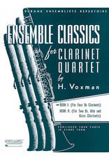 Hal Leonard Ensemble Classics for Clarinet Quartet - Book 1 for Four Bb Clarinets arr. H. Voxman Ensemble Collection
