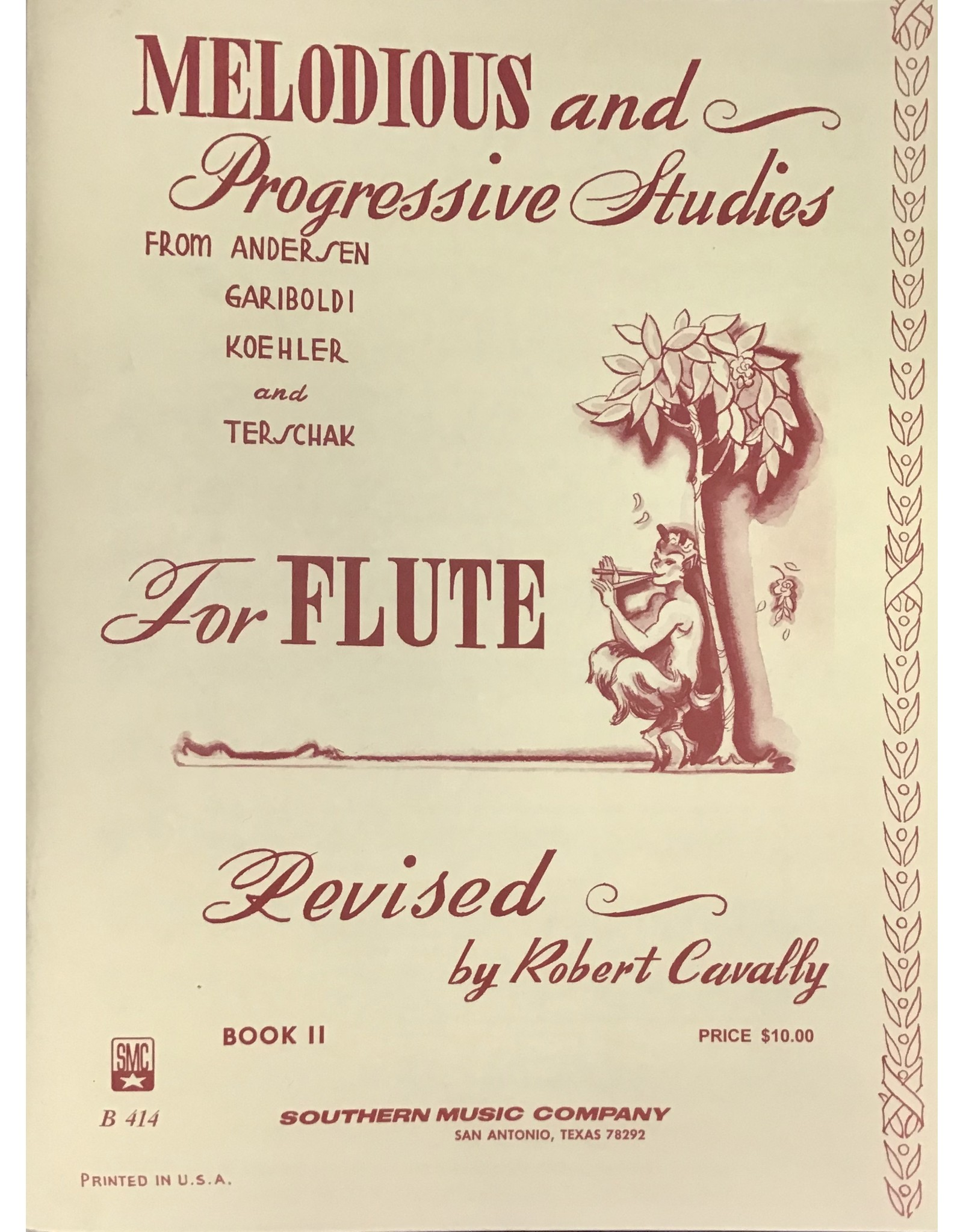 Southern Music Company Melodious and Progressive Studies for Flute Book 2