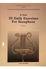 Carl Fischer LLC 25 Daily Exercises for Saxophone Saxophone - Hyacinthe E. Klose