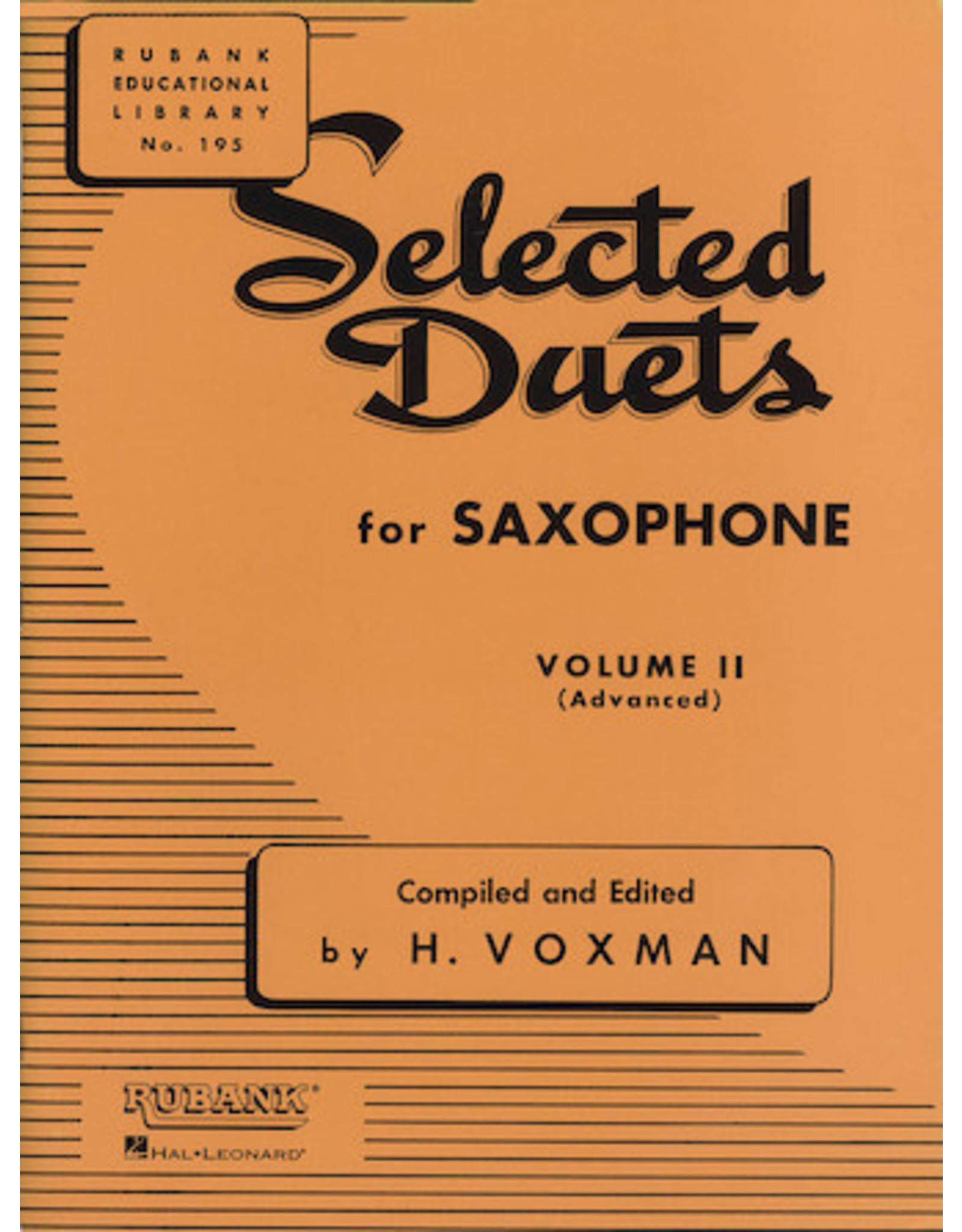 Hal Leonard Selected Duets for Saxophone Volume 2 - Advanced edited H. Voxman Ensemble Collection Volume 2