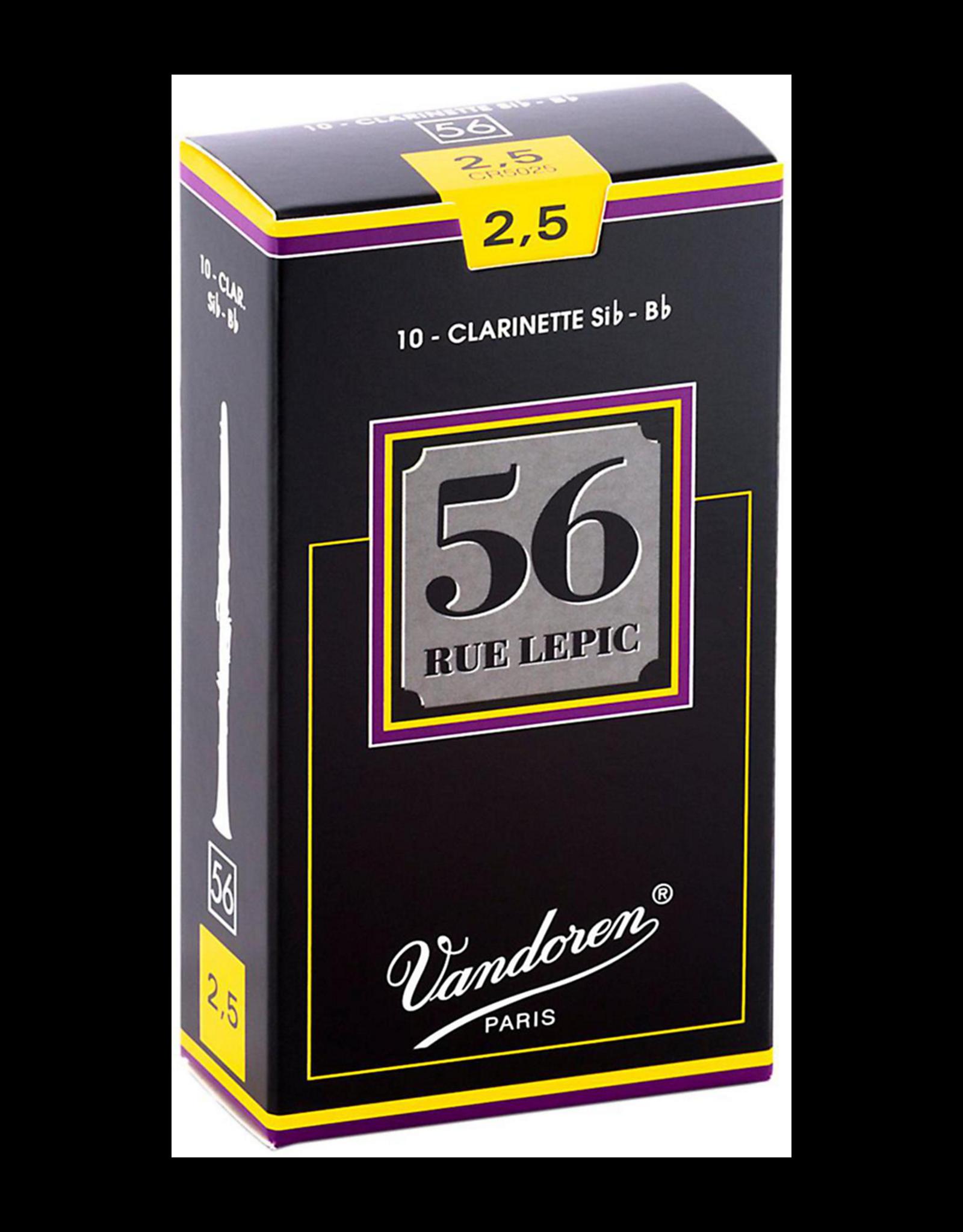 Vandoren Vandoren 56 Rue Lepic Bb Clarinet Reeds Box of 10