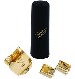 Vandoren Vandoren Optimum Ligature and Plastic Cap for Metal V16 Tenor Saxophone; Gilded; Includes 3 Interchangeable Pressure Plates