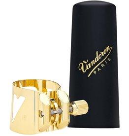 Vandoren Vandoren Optimum Bari Sax Gold-Gilded Ligature & Plastic Cap